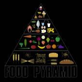 Vector healthy food pyramid icon set
