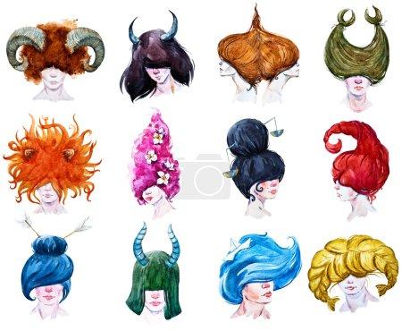 12 horoscopes raster