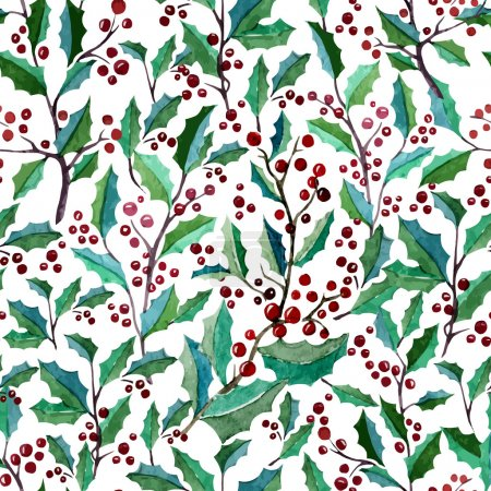 Photo for Beautiful vector pattern with berries on white fon - Royalty Free Image