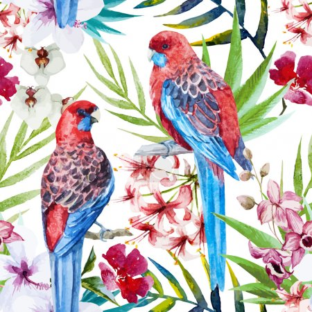 Rosella bird pattern