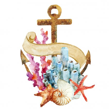 Anchor with corals