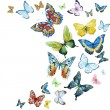 Beautiful vector image with nice watercolor butter...