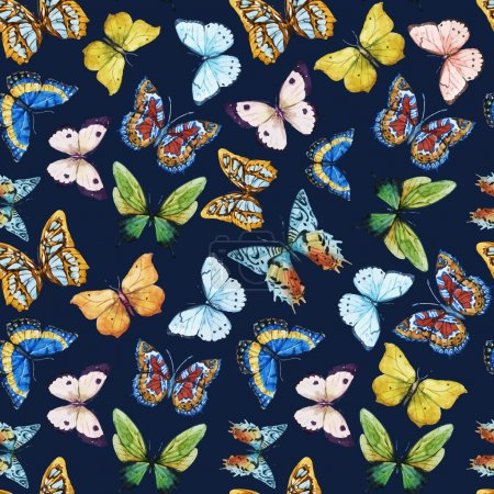 Watercolor butterfly pattern