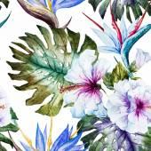 Akvarell hibiscus minták