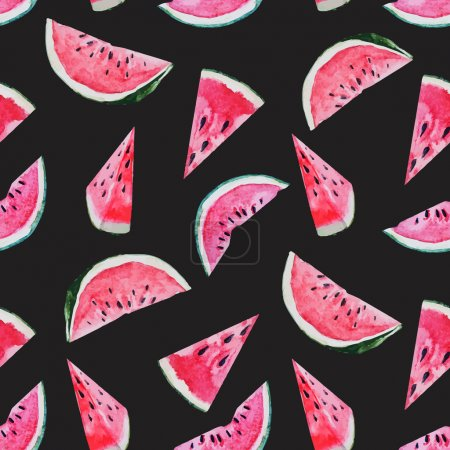 Watercolor watermelon melon pattern