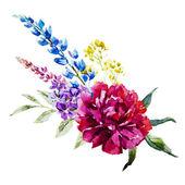 """Постер, картина, фотообои """"Nice цветы Акварель"""""""