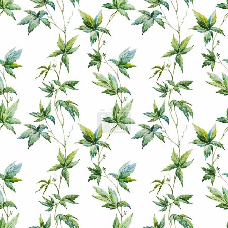 Beautiful vector pattern with nice watercolor cree...