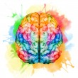 Beautiful vector image with nice watercolor brain...