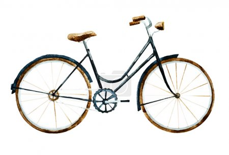 Illustration for Beautiful vector image with nice watercolor bike - Royalty Free Image