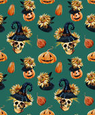 Watercolor halloween pattern