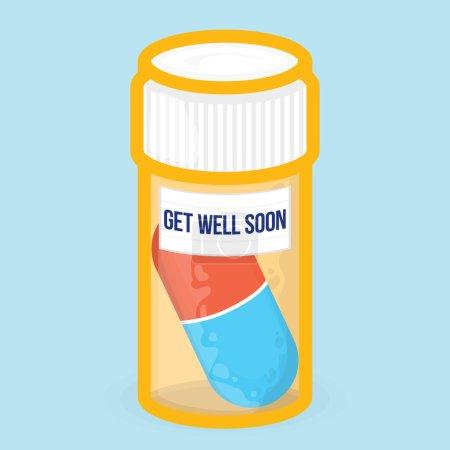 """""""Get well soon"""" big pill"""