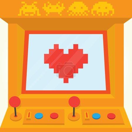 Be my retro valentine arcade machine