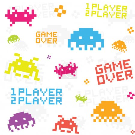 White space invaders pattern