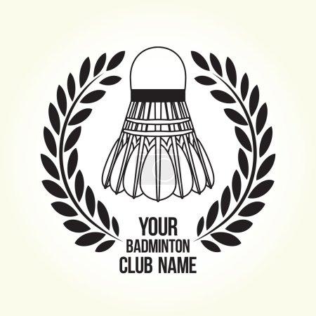 Badminton silhouette club logo