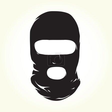 Terrorist mask isolated vector object...
