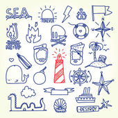 Hand drawn old school tattoo vector objects