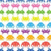 Old school game vector pattern