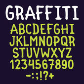 Hand drawn graffiti letters vector pack