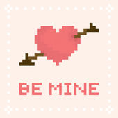 Pixel art be mine valentines day card