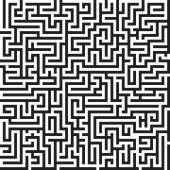 Maze graphic black and white seamless vector pattern