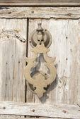 Staré klepadlo na dřevěné dveře, Maroko styl