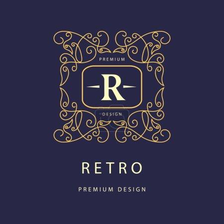 Monogram design elements, graceful template. Elegant line art logo design. Business sign, identity for Restaurant, Royalty, Boutique, Cafe, Hotel, Heraldic, Jewelry, Fashion, Wine. Vector illustration