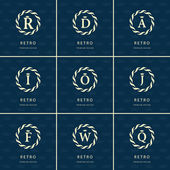 Monogram design elements graceful template Calligraphic elegant line art logo design Letter emblem sign R D A I O J F W Q for Royalty business card Boutique Hotel Heraldic Vector