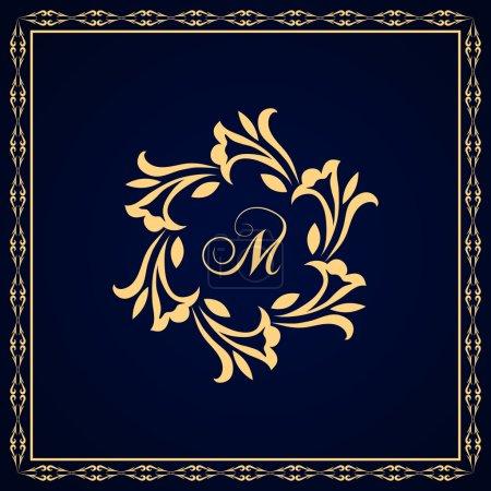 Monogram design elements, graceful template. Calligraphic Elegant line art logo design Letter emblem M identity for Restaurant, Royalty, Boutique, Cafe, Hotel, Heraldic, Jewelry, Fashion, Wine. Vector