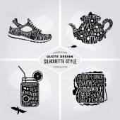 Vector creative collection of quotes healthy lifestyle card design Set of typography print