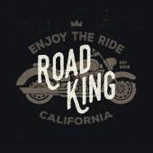 Vector vintage motorcycle logotype Retro motorbike logo Badge print design in flat style