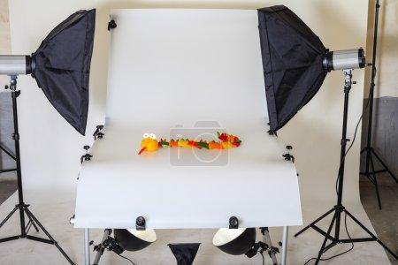 Photo pour Tableau photo pour la photographie de produit dans un studio - image libre de droit