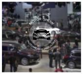 Blurred background of motor show