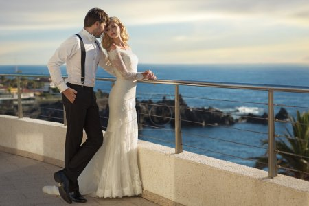Photo for Romantic picture of the young marriage couple - Royalty Free Image