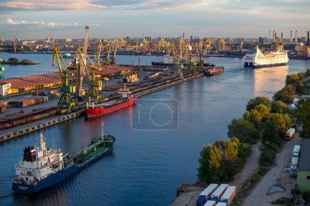 Cruise ferry Princess Anastasia at port of St. Petersburg.