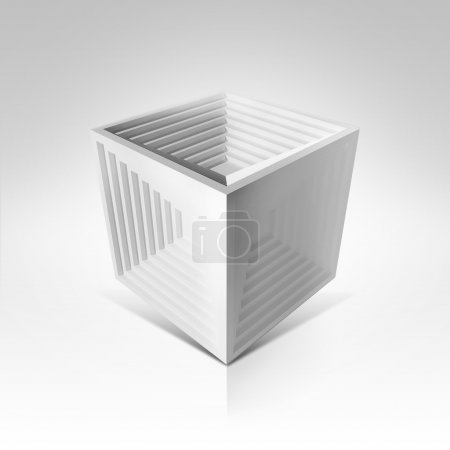 White cube isolated
