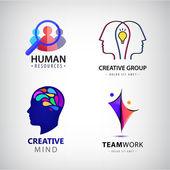 set of human man logos
