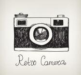 Retro  hipster photo camera