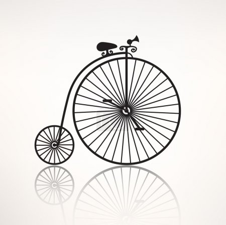 Vintage retro bicycle icon
