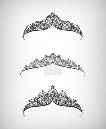 Set of  crowns isolated