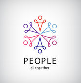 Teamwork people together icon