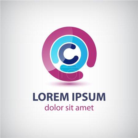 Abstract circle loop logo