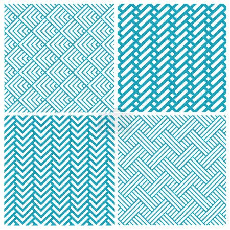 Set of chevrons seamless patterns