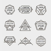 Retro line hipster geometric logos