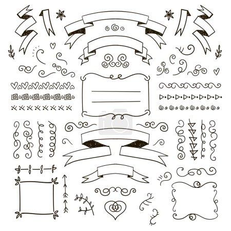 Drawn doodle  elements