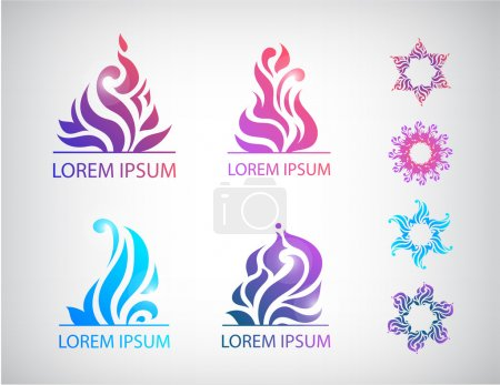 Abstract floral icons