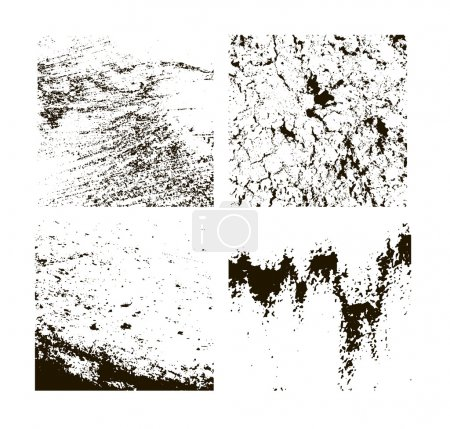 Grunge textures set. background. vector illustrati...
