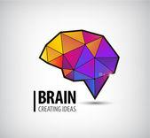 colorful brain icon logo