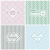 Graphic Design Templates for Logo Labels and Badges Abstract Line Patterns Backgrounds Seamless patterns with geometric abstract shapes