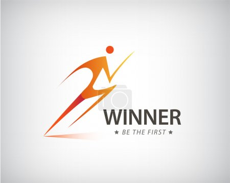 Corporate Winner logo template