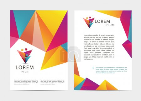 Flyers, modern faceted design